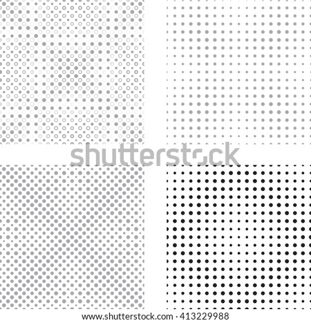 Halftone Dots Pattern Collection