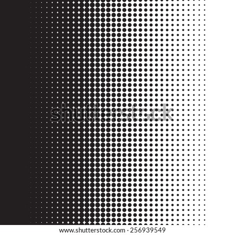 halftone dots pattern gradient