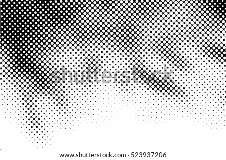 Halftone Dots Pattern . Halftone Dotted Grunge Texture . Abstract Dots Overlay Texture . Light Distressed Background with Halftone Effects. Ink Print Distress Background . Dots Grunge Texture. Vector.