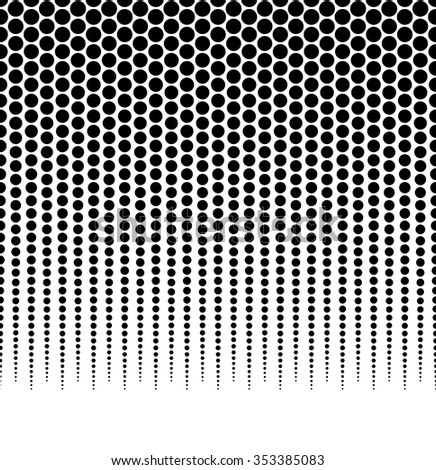 Halftone, dotted pattern, background. (Horizontally seamless.) stock photo