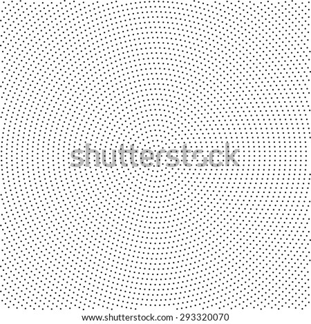 Halftone effect background with place for your text. Abstract geometric shape texture.  Background made with dots