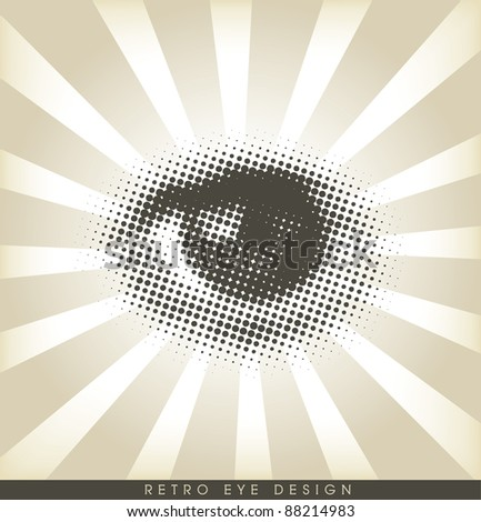 Halftone eye - retro design