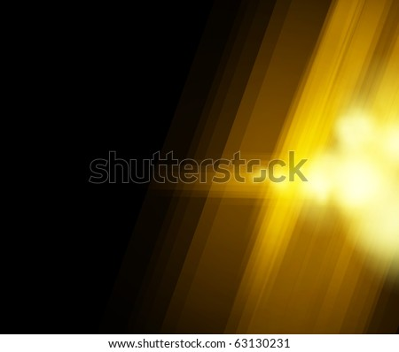 Halftone golden light background. Vector illustration