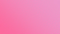 Halftone gradient pattern vector illustration. Light pink dotted, pink halftone texture. Pop Art style pink halftone, comics Background. Background of Art. Dots background. . EPS10
