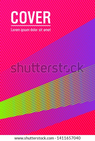 Halftone lines placard background graphic design. Educational certificate concept. Contemporary paper cover design. Digital stylish outlet backdrop. Triangle element layers modern pattern.