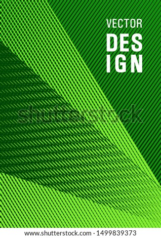 Halftone lines texture vector print background. Tech diagonal elements backdrop. Bauhaus minimal placard background. Magic notebook framework. Educational brochure cover template.