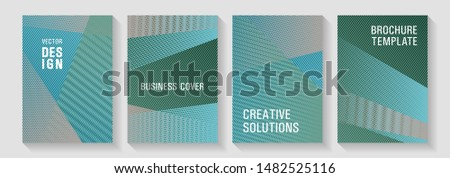 Halftone lines texture vector prints. Corporate branding leaflets. Digital stylish outlet backdrops. Poster linear minimalistic Eps10 vectors. Advanced brand cover templates set.