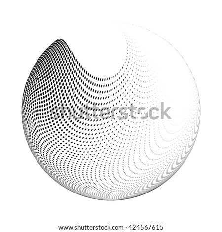 stock vector halftone logo template isolated round icon abstract globe symbol business concept abstract 424567615 halftone logo template isolated round icon, abstract globe symbol on science abstract template