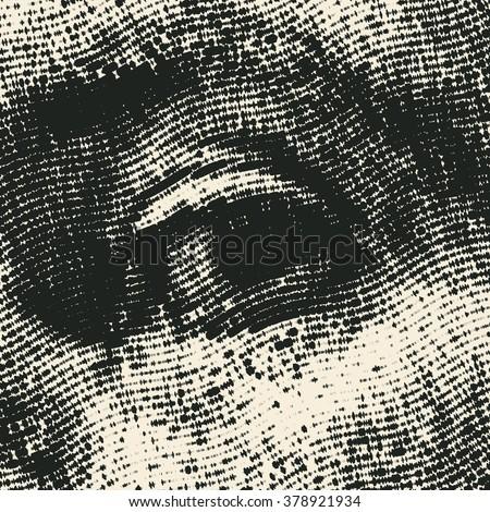 halftone male eye vector