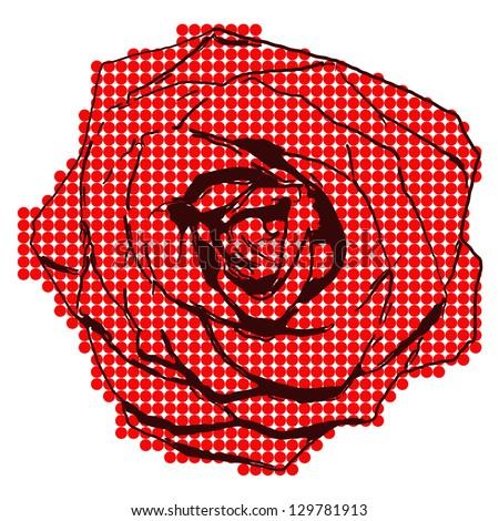 Halftone rose
