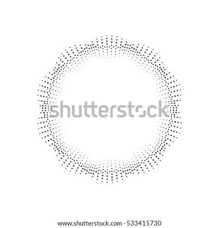halftone round frame halftone