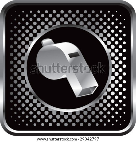 halftone silver button whistle