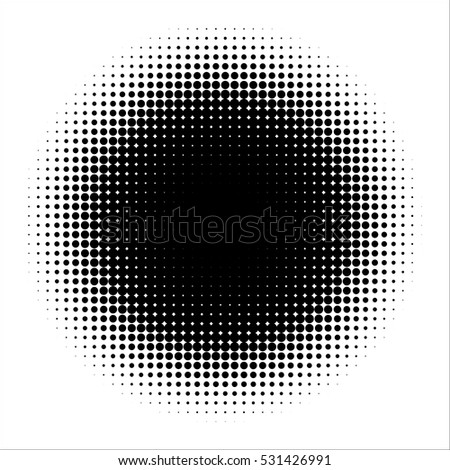 Halftone vector background . Dots Illustration