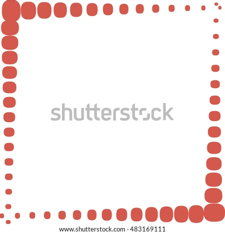 Halftone vector dots abstract frame background with place for text #483169111