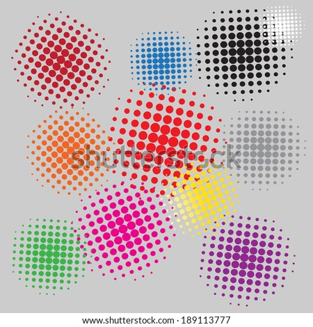 Halftone vector illustration Set background  #189113777
