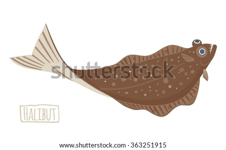 halibut illustration  cartoon