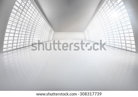hall  wide open space vector