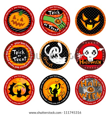 Hallooween Vector drink coasters.