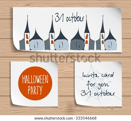 halloween attribute set with