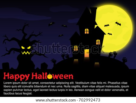 haunted house in the woods halloween background ez canvas