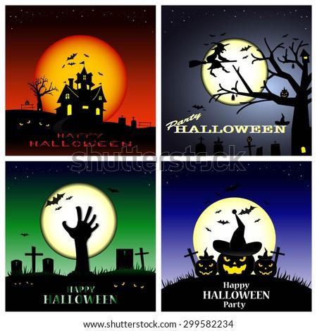 Halloween background,Halloween set.