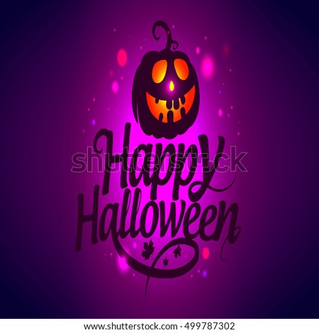 halloween background happy vector card illustration party