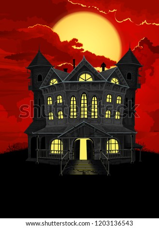 halloween background haunted