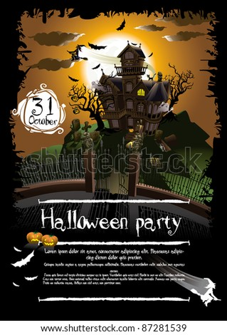 Halloween background illustration poster