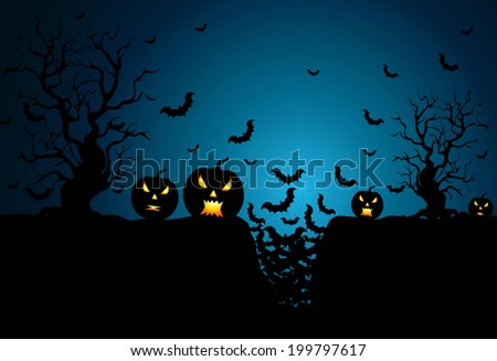 halloween background in vector