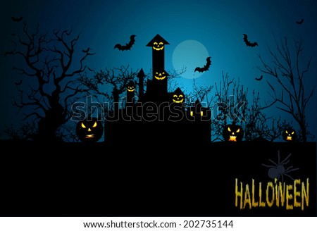 halloween background in vector