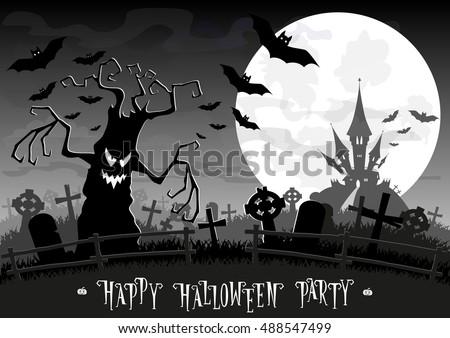halloween background monsters
