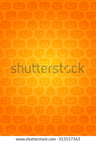 Halloween / Background of pumpkin / Orange gradation / The height.
