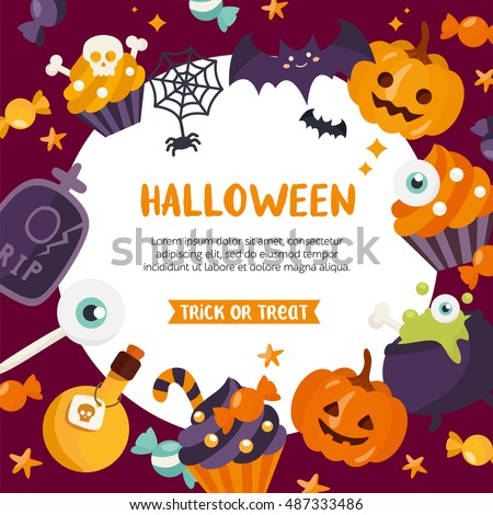 halloween background place for