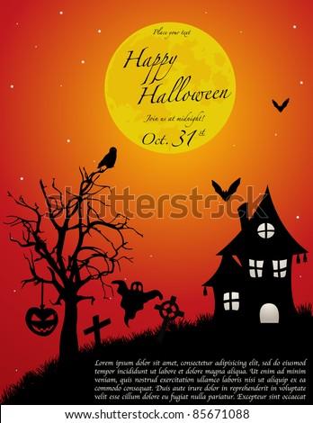 Halloween background. VECTOR