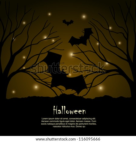 Halloween background vector design silhouette
