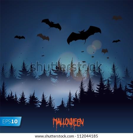 Halloween background, vector Eps 10 illustration.