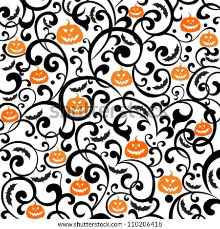 Halloween background. vector illustration - stock vector