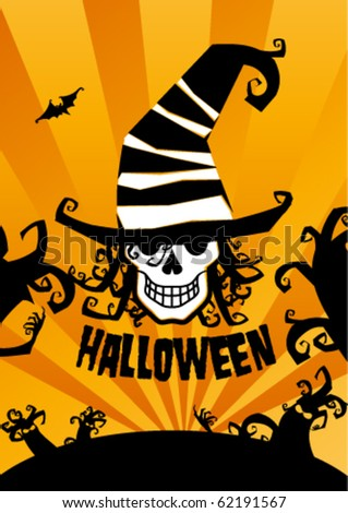 Halloween background, vector illustration.