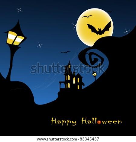 halloween background vector illustration