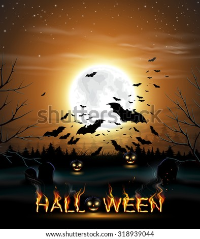 halloween background with full