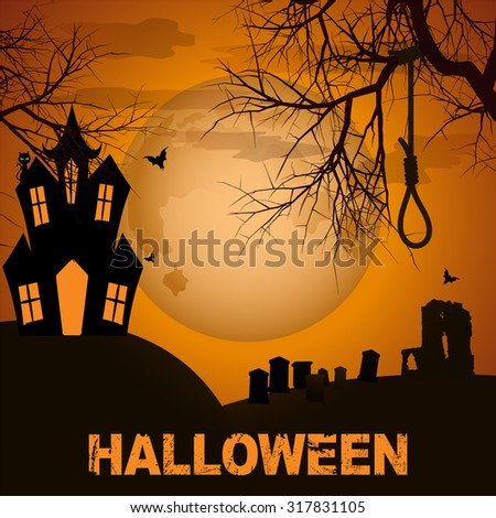 halloween background with
