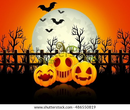 halloween background with happy