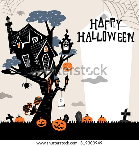 halloween background with the