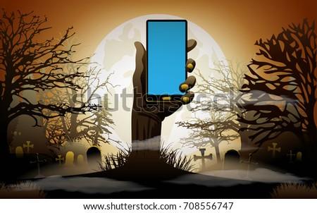 halloween background zombie