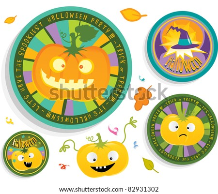halloween badges set for children's party