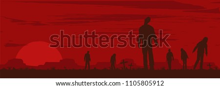 halloween banner  silhouette of