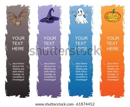 halloween banner, standard size as vertical banner size (skycraper) 160 x 600. - stock vector