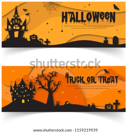 spooky halloween menu design download free vector art stock