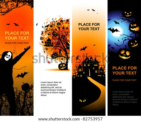 Halloween banners vertical for your design