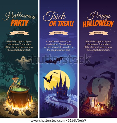 halloween banners with the